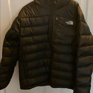 Black North Face Coat  with hood Size XL